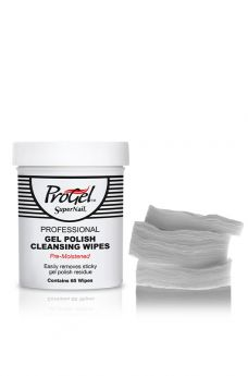SuperNail ProGel Pre-Moistened Gel Polish Cleansing Wipes  65 count